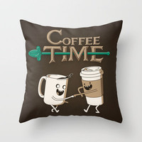Coffee Time! Throw Pillow by powerpig | Society6