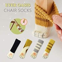 20PCS (5 Sets) Chair Socks Fancy Table Leg Pads with Cute Cat Paws Design, Reliable Furniture and Floor Protector, 4 Different Patterns + 1 Selectable Pattern - Pack of 20 socks