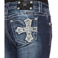 Miss Me MK 320 Relaxed Bootcut Jeans