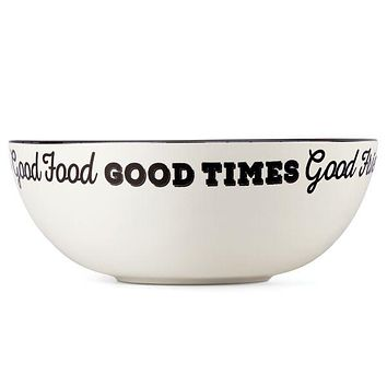 "Around the Table 8"" Good Friends, Good Times Serving Bowl by Lenox"