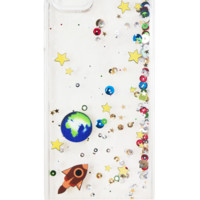 GALAXY GLITTER CLEAR WATERFALL IPHONE CASE