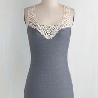 Mid-length Tank top (2 thick straps) DIY Day Top in Slate by ModCloth