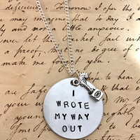 Hamilton Broadway Hurricane Lyrics I Wrote My Way Out Charm Necklace