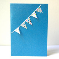 Happy Bunting - 3D Pop Up Stack of Gifts - Original Handmade Sweet Cute Special Festive Birthday Greeting Card