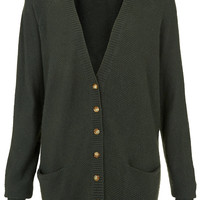 Knitted Texture Stitch Cardi - Knitwear - Clothing - Topshop USA