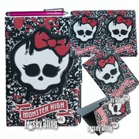 MONSTER HIGH Skull Punk Girly iPad 2 3 or 4 Lightweight Slim Smart Cover/Case with FREE Monster High Gift Item & Jersey Bling® Stylus
