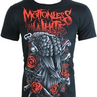 Motionless In White Crow and Bones Men's Black T-Shirt - Offical Band Merch - Buy Online at Grindstore.com