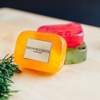 Papaya Soap - Natural ingredients, Transparent soap base With Luffa inside, Wash your body or hand