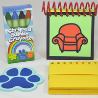 Blue's Clues Handy Dandy Notebook with 25 Sticky Clues by AuFoyer