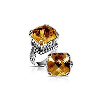 """AR-6111-CT-8"""" Sterling Silver Ring With Citrine Q."""