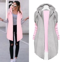 MUQGEW High Recommend Women Ladies Long Sleeve Cardigan Coat Open Front Jacket womens winter jackets abrigos mujer invierno 2017