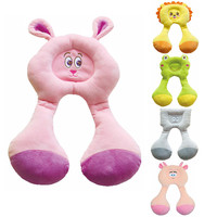 car stroller travel pillow baby toys Headrest Cartoon Animal Neck Support Protection Pillow doll Plush stuffed kidChristmas gift