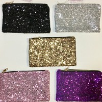 Sequin Clutch or Make up bag