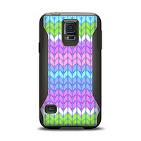 The Bright-Colored Knit Pattern Samsung Galaxy S5 Otterbox Commuter Case Skin Set