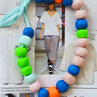 Bright, trendy summer beaded necklace