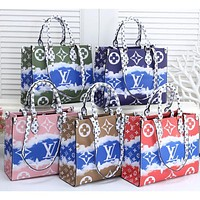 Inseva Louis Vuitton LV New Gradient Printed Letters Lady Handbag Shoulder Bag