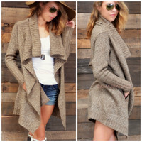 SZ M/L Roasting Marshmallows Mocha Cardigan