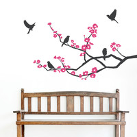 Canary Flower Branch Wall Decal