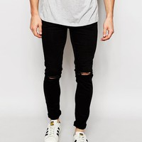New Look | New Look Skinny Jeans with Rips at ASOS
