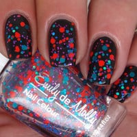 Glitter nail polish  Bright Young Things blue by EmilydeMolly