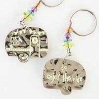 Camper  Token  Keychain  From  Natural  Life