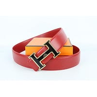 Hermes belt men's and women's casual casual style H letter fashion belt324