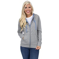 Preptec Zip Hoodie in Lilac by Lauren James