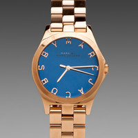 Marc by Marc Jacobs Henry Watch in Malibu Blue/Rosegold from REVOLVEclothing.com