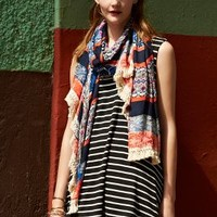 Fringed Plateau Scarf by Anthropologie Assorted One Size Scarves