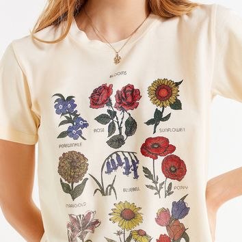 Future State Flower Chart Tee   Urban Outfitters