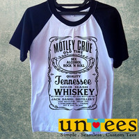 Men's Short Sleeve Raglan Baseball T-shirt - Motley Crue design