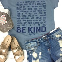 Advice Collection: Be Kind Tee {Vintage Blue}