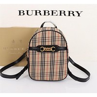 BURBERRY WOMEN'S Haymarket Check BACKPACK BAG
