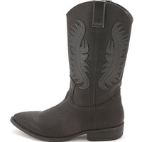 Women Western Cowboy BLACK Boots Shoes horse 50%OFF today only