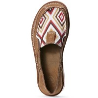 Ariat Boots Women's Red Aztec Print Leather Slip-on Cruiser #10027384- size 8