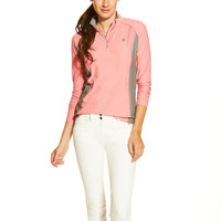 Ariat Ladies Tri Factor 1/4 Zip Shirt - Strawberry Pink