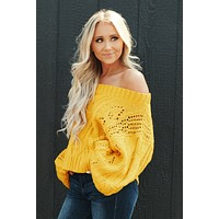Sweater Weather Knitted Sweater (Mustard)
