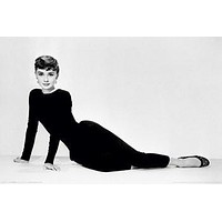 AUDREY HEPBURN POSTER - FAMOUS BLACK DRESS POSE - 24X36