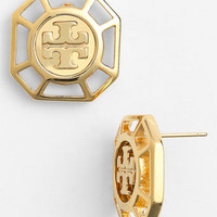 Tory Burch 'Audrina' Logo Stud Earrings | Nordstrom