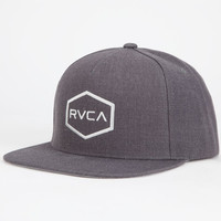 Rvca Commonwealth Mens Snapback Hat Charcoal One Size For Men 25474311001