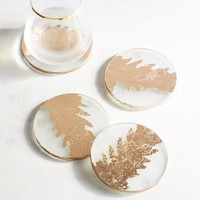 Rose Gold Foiled Coaster Set