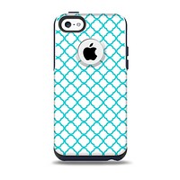 The Moracan Teal on White Skin for the iPhone 5c OtterBox Commuter Case