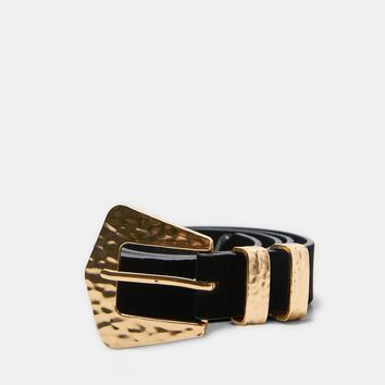 BELT WITH RAISED BUCKLE