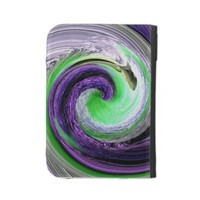 Purple and Lime Green Wave Kindle Case from Zazzle.com