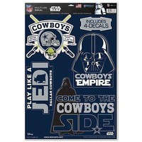 DALLAS COWBOYS STAR WARS YODA & VADER LAPTOP MULTI USE REUSABLE DECALS NEW