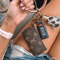 Louis Vuitton Classic Print Fashion Casual Men's and Women's Key Case Coin Purse Clutch Small Wallet