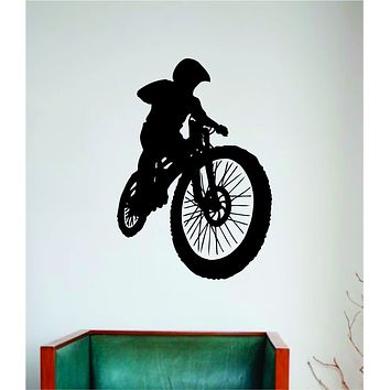 BMX Biker V8 Wall Decal Home Room Bedroom Decor Vinyl Art Sticker Sports Teen Kids Bike Bicycle Boy Girl