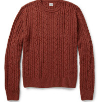 EdwinOiler Flecked Cable-Knit Sweater|MR PORTER