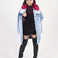 Chilly days Jacket- Red