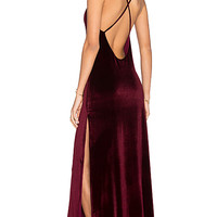 In The Deep Maxi Dress in Wine